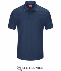SK96NV Men's Navy Short Sleeve Performance Knit® Pocketless Core Polo