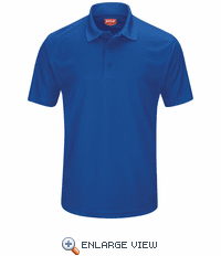 SK96RB Men's Royal Blue Short Sleeve Performance Knit® Pocketless Core Polo