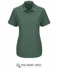 SK97HG Women's Short Sleeve Hunter Green Performance Knit® Pocketless Core Polo