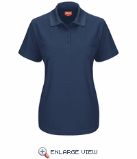 SK97NV Women's Short Sleeve Navy Performance Knit® Pocketless Core Polo