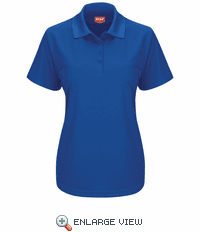SK97RB Women's Short Sleeve Royal Blue Performance Knit® Pocketless Core Polo