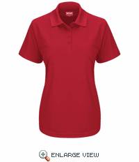 SK97RD Women's Short Sleeve Red Performance Knit® Pocketless Core Polo