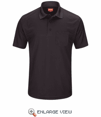 SK98BK Men's Black Short Sleeve Performance Knit® Pocket Polo