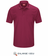 SK98BU Men's Burgundy Short Sleeve Performance Knit® Pocket Polo