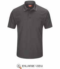 SK98CH Men's Charcoal Short Sleeve Performance Knit® Pocket Polo