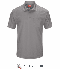 SK98GY Men's Grey Short Sleeve Performance Knit® Pocket Polo