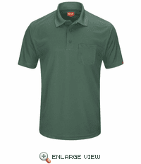 SK98HG Men's Hunter Green Short Sleeve Performance Knit® Pocket Polo