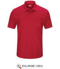 SK98RD Men's Red Short Sleeve Performance Knit® Pocket Polo
