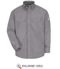 SLW2SV EXCEL- FR™ COMFORTOUCH® Silver Button Front Work Shirt