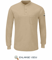 SML8 Men's Long Sleeve Lightweight Henley Shirt