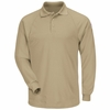 SMP2KH Classic Long Sleeve Khaki Polo - CoolTouch®2