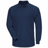 SMP2NV Classic Long Sleeve Navy Polo - CoolTouch� title=