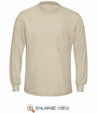 SMT8KH Long Sleeve Khaki Lightweight T-Shirt