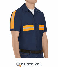 SP24ON Short Sleeve Enhanced Visibility Navy Shirt
