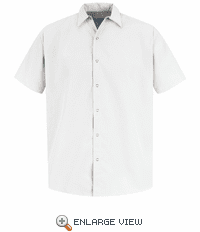 SS26 Pocketless Short Sleeve Polyster Industrial Work Shirt