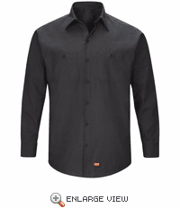 SX10BK Men's Black Long Sleeve Work Shirt with MIMIX™