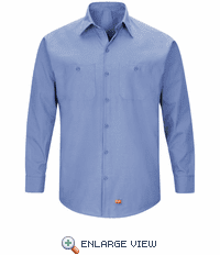 SX10LB Men's Light Blue Long Sleeve Work Shirt with MIMIX™