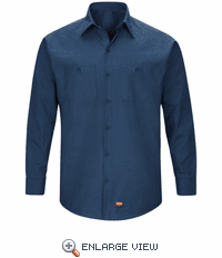 SX10NV Men's Navy Long Sleeve Work Shirt with MIMIX™