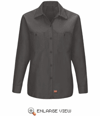 SX11CH Women's Charcoal Long Sleeve Work Shirt with MIMIX™
