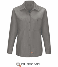 SX11GY Women's Grey Long Sleeve Work Shirt with MIMIX™