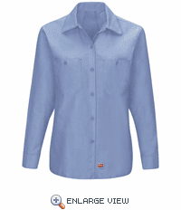 SX11LB Women's Light Blue Long Sleeve Work Shirt with MIMIX™