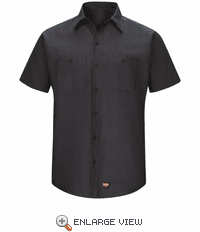 SX20BK Men's Black Short Sleeve Work Shirt with MIMIX™