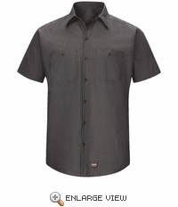 SX20CH Men's Charcoal Short Sleeve Work Shirt with MIMIX™