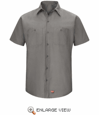 SX20GY Men's Grey Short Sleeve Work Shirt with MIMIX™