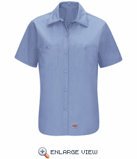 SX21LB Women's Light Blue Short Sleeve Work Shirt with MIMIX™