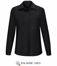 SY31BC Women's Long Sleeve Black/Charcoal Performance Plus Shop Shirt with OilBlok Technology