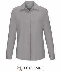 SY31GC Women's Long Sleeve Grey/Charcaol Performance Plus Shop Shirt with OilBlok Technology