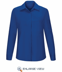 SY31RB Women's Long Sleeve Royal Blue/Black Mesh Performance Plus Shop Shirt with OilBlok Technology