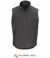 VP62CH  Soft Shell Charcoal Vest