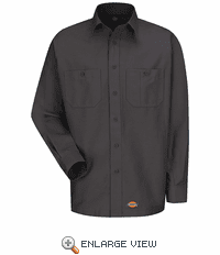 WS10CH Dickies Long Sleeve Charcoal Workshirt