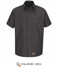 WS20CH Dickies Short Sleeve Charcoal Workshirt