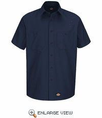 WS20NV Dickies Short Sleeve Navy Workshirt