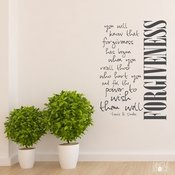Forgiveness  Louis B Smedes Quote - Wall Decals