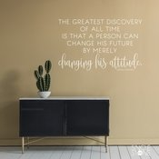 The Greatest Discovery Oprah Winfrey Quote Wall Decal