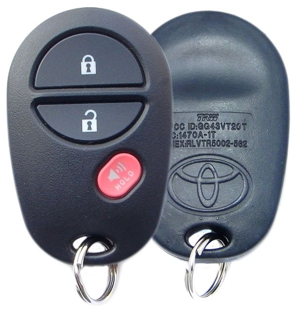 2008 Toyota Highlander Keyless Entry Remote 89742-AE011,  89742AE011, 89742-AE010, 89742AE010, GQ43VT20T