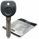 2009 Saturn Outlook transponder key blank