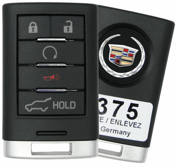 2010 Cadillac Srx Remote With Engine Start Key Fob