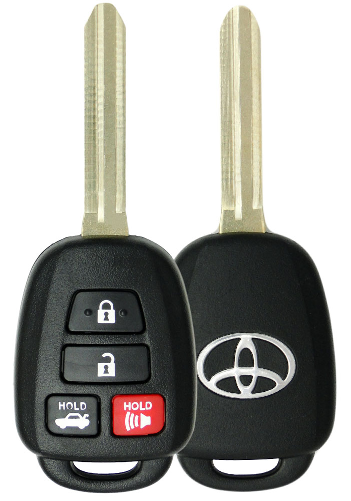 Transponder Ignition Key fits Toyota Scion with 4D 72 G Chip 2011 2012 2013 2014 2015 2016 Set of 2 USARemote