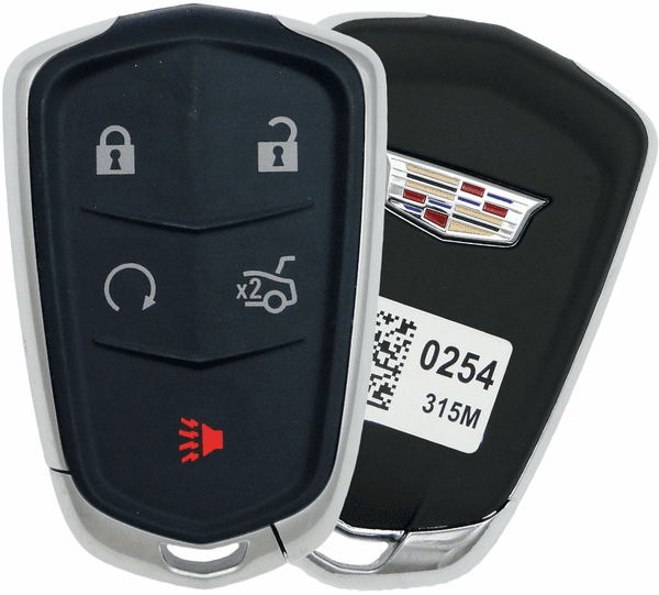 X AUTOHAUX New Car Replacement Keyless Remote Key Fob Shell Case Black HYQ2AB for Cadillac XTS 2015-2018
