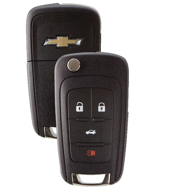 2016 Chevrolet Impala Key, 5912543,  5921872, OHT01060512less Entry Remote Key, 5912543,  5921872, OHT01060512