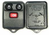 3 button Ford Mazda Lincoln Mercury replacement case/shell with rubber pad