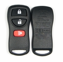 3 button Nissan and Infiniti replacement case/shell with rubber pad