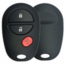 3 Button Toyota Round Remote Replacement Shell