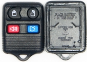 4 button Ford Mazda Lincoln Mercury replacement case/shell with rubber pad