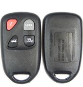 4 button Mazda keyless remote replacement case, shell with buttons