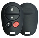 4 Button Toyota Round Remote Replacement Shell with Hatch